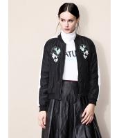 ガーベラレディース 欧米風 カジュアル シンプル 刺繍 長袖 キルティングジャケット mb11321-1