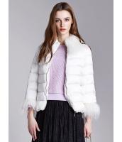 ガーベラレディース エレガント ロマンチック シンプル ファー襟取り外し可能 裾幅調節可能 ゆったり 七分袖 ショート丈 キルティングジャケット mb11323-2