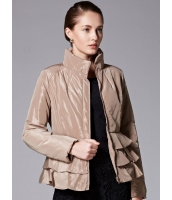 ガーベラレディース ロマンチック ぺプラム裾 キルティングジャケット (ラビットファー襟特典付き) mb11345-1