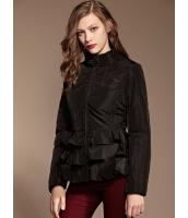 ガーベラレディース ロマンチック ぺプラム裾 キルティングジャケット (ラビットファー襟特典付き) mb11345-2