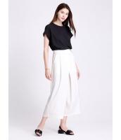 ガーベラレディース ファッション 純色 ハイウエスト シンプル 薄手 八分丈 ワイドパンツ mb11420-2