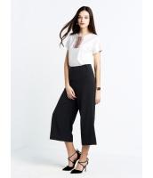 ガーベラレディース ファッション シンプル 七分丈 ワイドパンツ mb11432-1