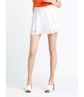 ガーベラレディース 欧米風 ファッション 内: ショートパンツ ホットパンツ 外: スカート 重ね着風 キュロットスカート mb11435-2