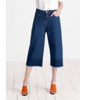 ガーベラレディース 欧米風 シンプル ファッション デニム ゆったり ストレート 七分丈 ジーンズ ワイドパンツ mb11438-1