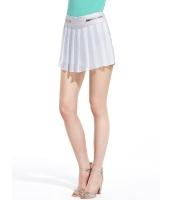 ガーベラレディース 欧米風 レトロ シンプル シフォン プリーツ キュロットスカート mb11471-1