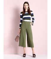 ガーベラレディース ファッション コーデアイテム 八分丈 ワイドパンツ mb11490-1