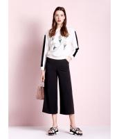 ガーベラレディース ファッション コーデアイテム 八分丈 ワイドパンツ mb11490-2