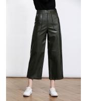 ガーベラレディース ファッション シンプル ゆったり 九分丈 レザーパンツ ワイドパンツ mb11520-1