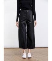 ガーベラレディース ファッション シンプル ゆったり 九分丈 レザーパンツ ワイドパンツ mb11520-2