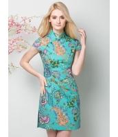ガーベラレディース ニューバージョン チャイナードレス ワンピース レトロ ファッション 着やせ ショート丈 チャイナードレス mb11593-1
