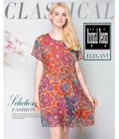ガーベラレディース 欧米風 ファッション ゆったり ワンピース ぺプラム裾 半袖 mb11603-1