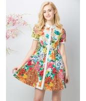ガーベラレディース ファッション 丸首 ワンピース mb11615-2