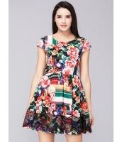 ガーベラレディース ファッション 着やせ 半袖 ワンピース mb11650-1