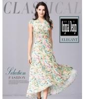 ガーベラレディース ボヘミアン 知的 着やせ 花柄 大きい裾 ワンピース ロング丈 mb11681-1