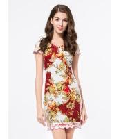 ガーベラレディース ファッション ニューバージョン 刺繡入り 着やせ ワンピース mb11735-4
