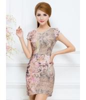 ガーベラレディース ファッション 芸術風 Vネック 着やせ ワンピース mb11774-1