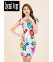 ガーベラレディース ニューバージョン ファッション 刺繡入り 着やせ チャイナードレス ワンピース mb11797-3