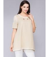 ガーベラレディース Tシャツ ミディアム丈 純色 半袖 mb11973-2