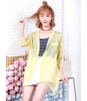 ガーベラレディース 韓国風 カジュアル ファッション 通気性 七分丈袖 涼しい カーディガン mb11985-2