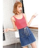 ガーベラレディース 韓国風 ファッション 精緻 シンプル コーデアイテム ボートネック タンクトップ mb11993-1