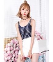 ガーベラレディース 韓国風 ファッション 精緻 シンプル コーデアイテム ボートネック タンクトップ mb11993-2