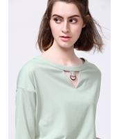 ガーベラレディース 韓国風 ファッション 清楚 ホロー ドロップショルダー プルオーバー ブラウス mb12009-1