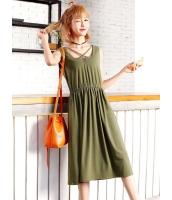 ガーベラレディース 韓国風 ファッション カジュアル 袖なし ワンピース mb12011-1