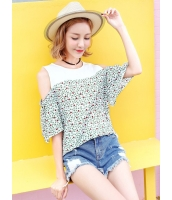 ガーベラレディース 韓国風 ファッション シフォン 丸首 プルオーバー ブラウス mb12017-1