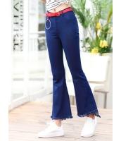 ガーベラレディース 韓国風 ファッション 着やせ デニム ジーンズ ベルボトム mb12025-1
