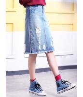 ガーベラレディース 韓国風 ファッション ダメージ デニム スカート mb12042-1