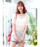 ガーベラレディース 韓国風 ファッション 柔らか 半袖 ロング丈 Tシャツ mb12061-1