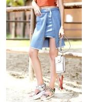 ガーベラレディース 韓国風 ストリートファッション 個性派 デニム スカート mb12090-1