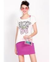 ガーベラレディース 韓国風 文字入り 不規則 裾 ストレッチ性 2点セット ワンピース Tシャツ mb12115-2
