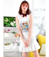 ガーベラレディース ファッション 学生風 精緻 袖なし ワンピース mb12124-2