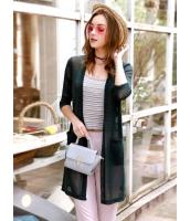 ガーベラレディース 韓国風 ファッション クラシック シースルー 軽やか 七分丈袖 ロング丈 涼しい カーディガン mb12125-1
