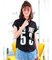 ガーベラレディース 清楚 ファッション 文字入り 半袖 シャツ mb12126-1