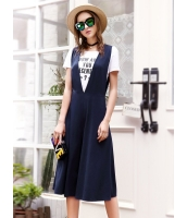 ガーベラレディース ファッション リラックス ワイドパンツ 七分丈 サロペット・オールインワン mb12133-1