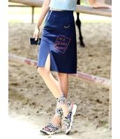 ガーベラレディース 韓国風 ファッション 個性派 刺繡入り ミニAライン デニム スカート mb12166-1