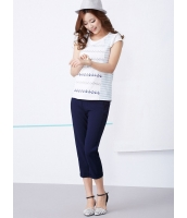 ガーベラレディース 韓国風 コーデアイテム クラシック ファッション 着やせ リラックス ライトストレッチ クロップドパンツ mb12178-1
