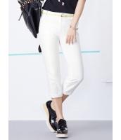 ガーベラレディース 韓国風 コーデアイテム クラシック ファッション 着やせ リラックス ライトストレッチ クロップドパンツ mb12178-2