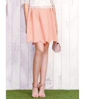 ガーベラレディース 韓国風 レトロ ミディアム丈 大きい裾 ゴアードスカート mb12194-2