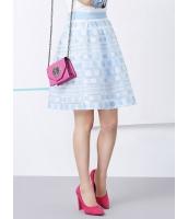 ガーベラレディース 韓国風 レトロ ドット・水玉 ボーダー オーガンザ ギャザー 大きい裾 ゴアードスカート mb12216-1