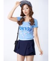 ガーベラレディース 韓国風 コーデアイテム ファッション フロント ぺプラム裾 着やせ ショートパンツ キュロットスカート mb12218-1