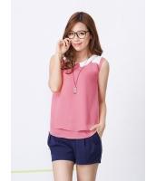ガーベラレディース 韓国風 ファッション コーデアイテム ステンカラー 袖なし ブラウス mb12219-1