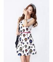 ガーベラレディース 韓国風 学生風 通気性 着やせ Aライン 袖なし ミニワンピース mb12222-2
