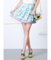 ガーベラレディース 韓国風 可愛い スイート スイートカラー Aライン ゴアードスカート mb12254-1