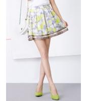ガーベラレディース 韓国風 可愛い スイート スイートカラー Aライン ゴアードスカート mb12254-2