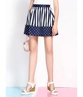 ガーベラレディース 韓国風 ファッション 学生風 可愛い ボーダー ドット・水玉 コーデアイテム ミニスカート mb12255-1