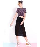 ガーベラレディース 韓国風 ファッション シフォン 側面スリット ひざ丈スカート mb12258-1
