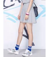 ガーベラレディース 韓国風 ファッション 通気性 肌に優しい綿質 ハイウエスト Aライン ゴアードスカート mb12261-2